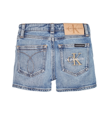 Calvin Klein Girls Straight Shorts 0449 Monogram Powdery