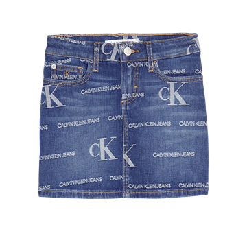 Calvin Klein Girls Denim Nederdel 00628 Logo Dark Blue