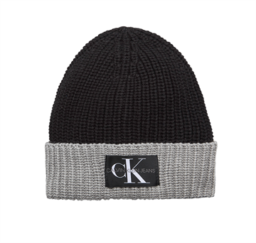 Calvin Klein Monogram Knitted Beanie Black Beauty