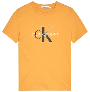 Calvin Klein T-shirt Monogram Logo 00068 Sulfur Yellow