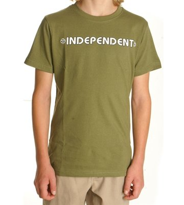 Independent T-shirt Youth Bar Cross Army