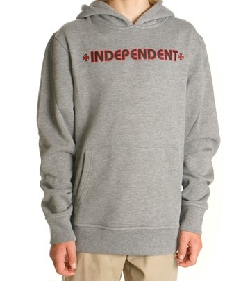 Independent Hoodie Youth Bar Cross Dark Heather