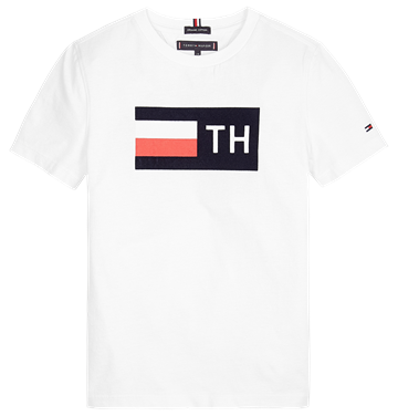 Tommy Hilfiger  Flock Tee s/s Bright White