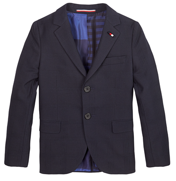 Tommy Hilfiger Boys TLD DG Checkered Blazer Blue Check