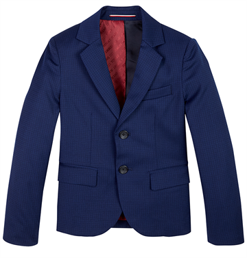 Tommy Hilfiger Boys TLD DG Flex Blazer Blue Check