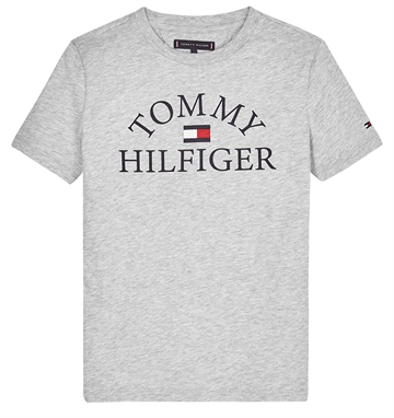 Hilfiger T-shirt Boys Ess. Logo Light Grey Heather