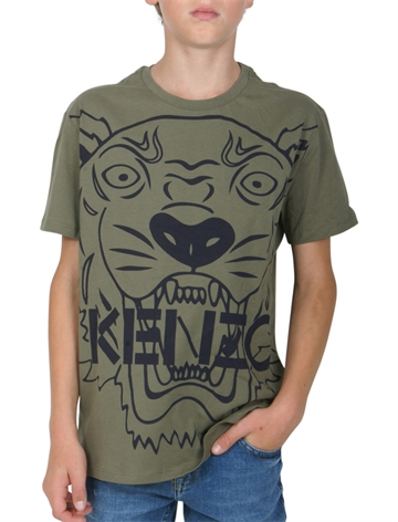 KENZO T-shirt Tiger Light Khaki KM10558