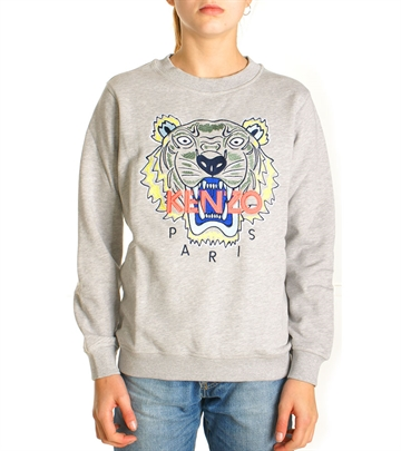 Kenzo Junior Tiger Sweatshirt Light Grey
