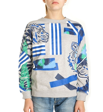 Kenzo Junior Sweatshirt Light Grey 15618 AOP