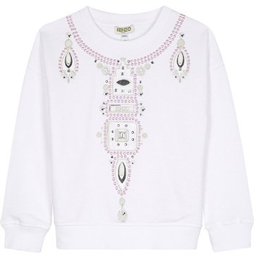 Kenzo Sweatshirt beaded necklace