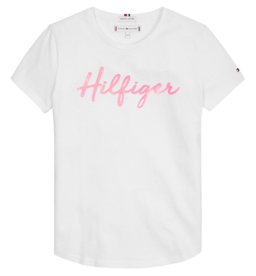 Tommy Hilfiger Girls Tee Bright White