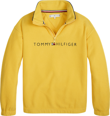 Tommy Hilfiger Sweatshirt Collar Zip Aspen Gold 00028
