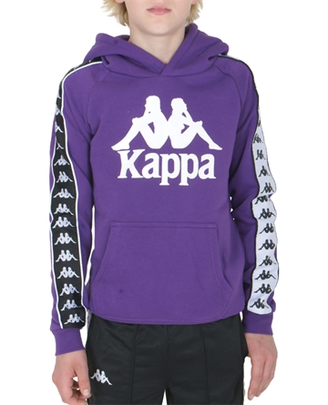 Kappa Sweat Hoodie Violet-Black-White
