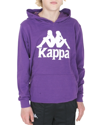 Kappa Sweat Hood Violet -Pansy White