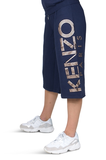 Kenzo Sweat Shorts Navy Blue Logo Print 25008