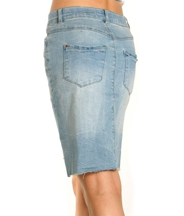 LMTD Nederdel Nitafana light blue denim
