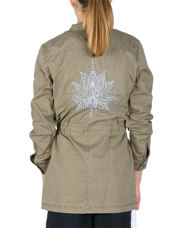 LMTD Girls Jacket canvas Dusky Green