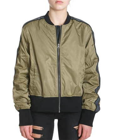 LMTD Girls Bomber Jacket Dusky Green