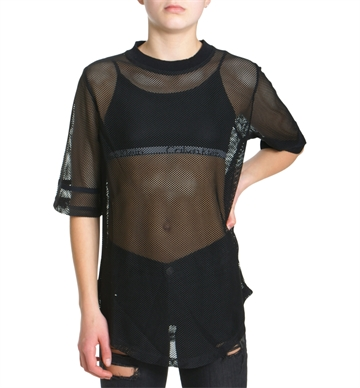 LMTD Girls Mesh Top Frida Black