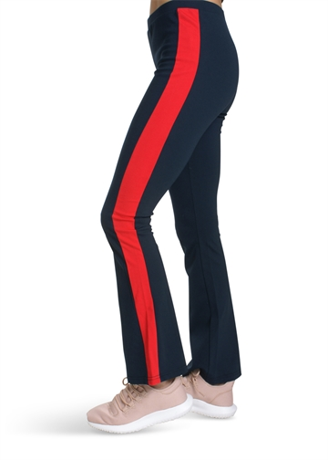 LMTD Girls Pant Bootcut Navy Red
