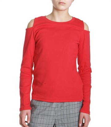 LMTD Girls Top Nesma Rib Red