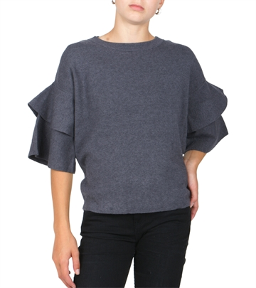 LMTD Girls strik top Sidsel Dark Grey melange