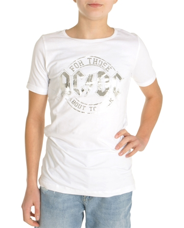 LMTD Girls AC/DC T-shirt White