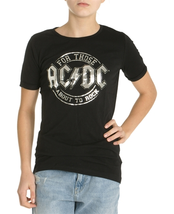 LMTD Girls AC/DC T-shirt Black