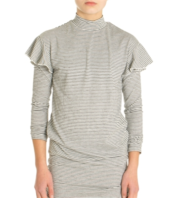 LMTD Girls Top Nabila strib turtle neck
