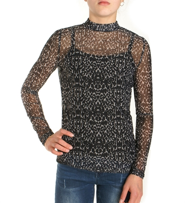 LMTD Top NLFsilvia l/s slim turtle neck Moonbeam