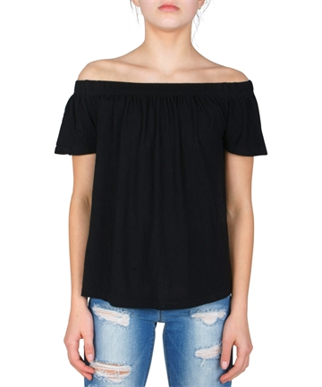 LMTD Girls Top Sindy s/s Loose fit Black