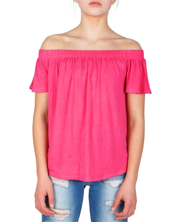 LMTD Girls Top Sindy s/s Loose fit Carmine Pink