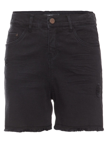 LMTD Girls High waist Denim shorts Black Abjornine