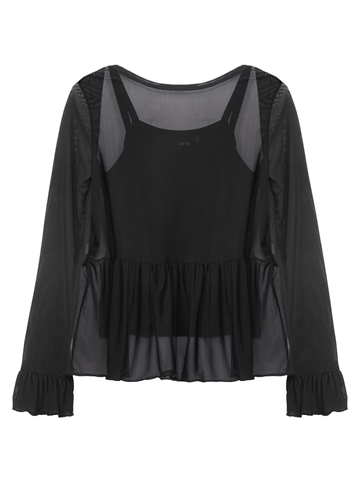 LMTD Girls Mesh top Nola Black