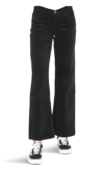 LMTD Girls Wide Pant NLFBANICKA Cord Black