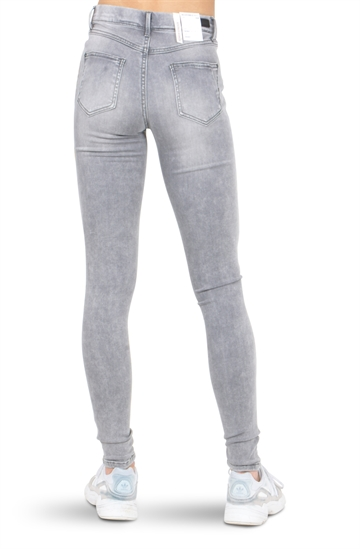 LMTD Girls Jeans Ancle Pil Medium Grey Denim