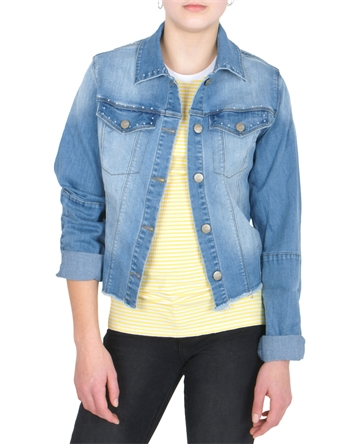 LMTD Girls denim Jacket short NLFALIKKA