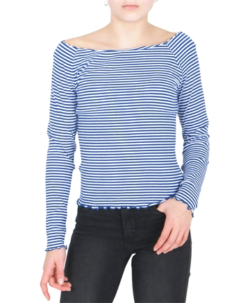 LMTD Top l/s Dallas Off shoulder Mazarine Blue