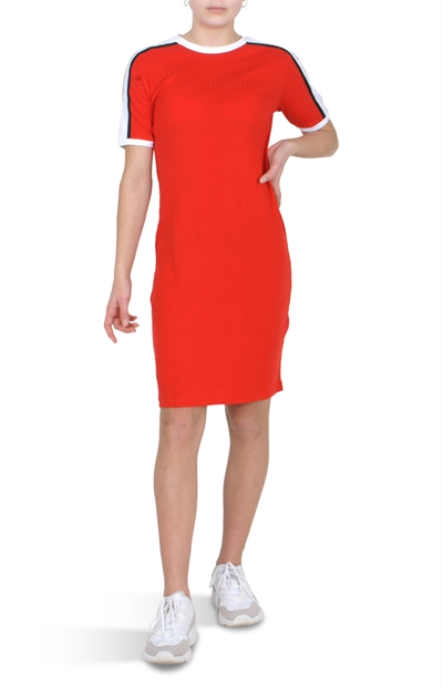 LMTD Diana ss slim dress flame scarlet