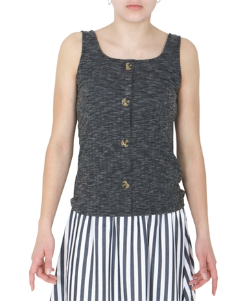LMTD Girls top Harse sleveless Black melange