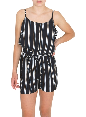 LMTD Girls strapsuit FRIDA black/white