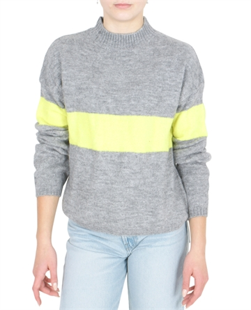 LMTD Girls Knit Odette Grey Melange Stripe