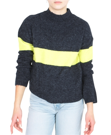 LMTD Sweater Girls Knit Odette Sky Captain Stripe