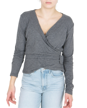LMTD Girls Short Top Nunne Dark Grey Melange