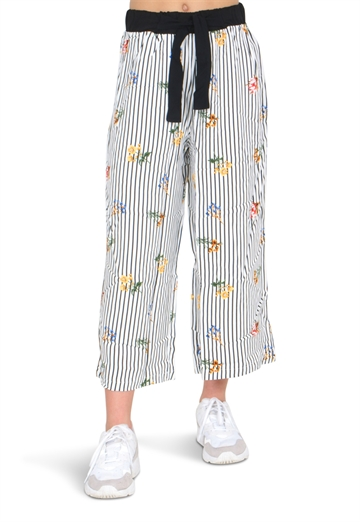 LMTD Girls nlffonga Wide 7/8 Pant Bright White