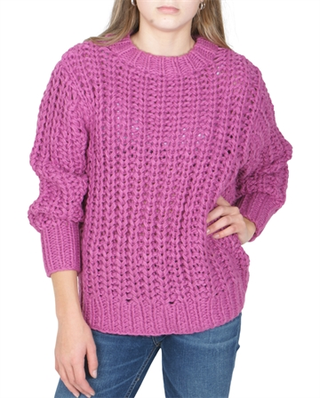 LMTD Girls serle chunky knit Purple Orchid