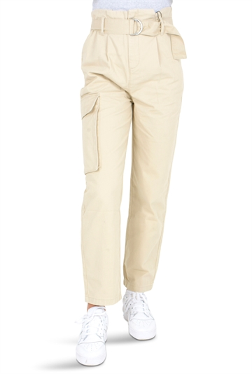 LMTD Girls pants Berta Cargo White Pepper