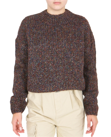 LMTD Girls Short Knit sweater Cabernet