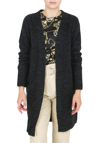 LMTD Odette Long Knit Cardigan Black