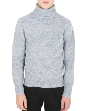 LMTD Boys Rogent Rollneck Knit Grey Melange